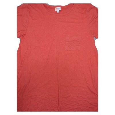 LuLaRoe CARLY X-Large XL Solid Red Swing Dress fits Women 18-20