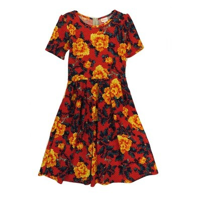 LuLaRoe Amelia Medium M Floral Womens Pocket Dress for sizes 10-12