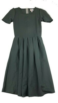 LuLaRoe Amelia Solid Gray XX-Small (XXS) Womens Dress for sizes 00-0