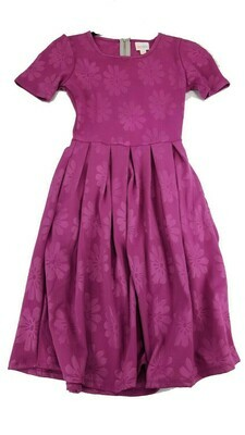 LuLaRoe Amelia Pink Embossed Floral XX-Small (XXS) Womens Dress for sizes 00-0