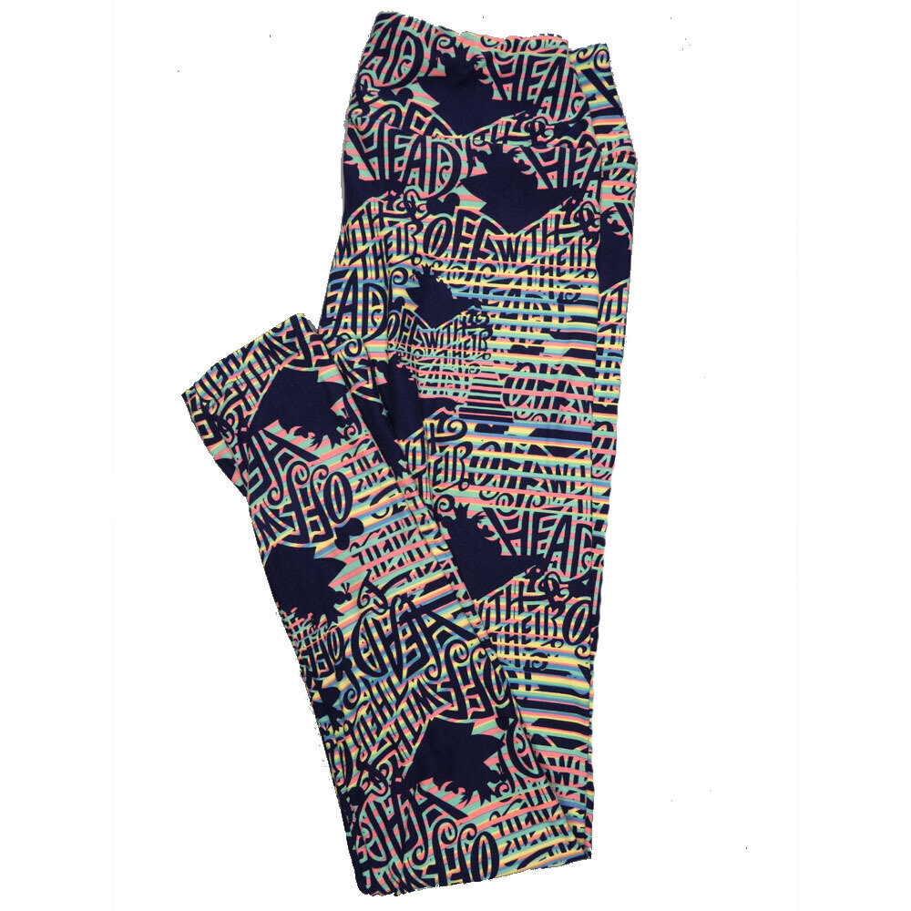 LuLaRoe One Size OS Disney Off With Their Heads Quenn of Hearts Alice in Wonderland Leggings (OS fits Adults 2-10) OS-4049-O