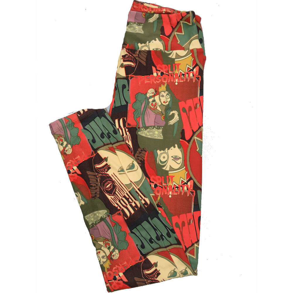LuLaRoe One Size OS Disney Evil Queens Leggings (OS fits Adults 2-10) OS-4050-H