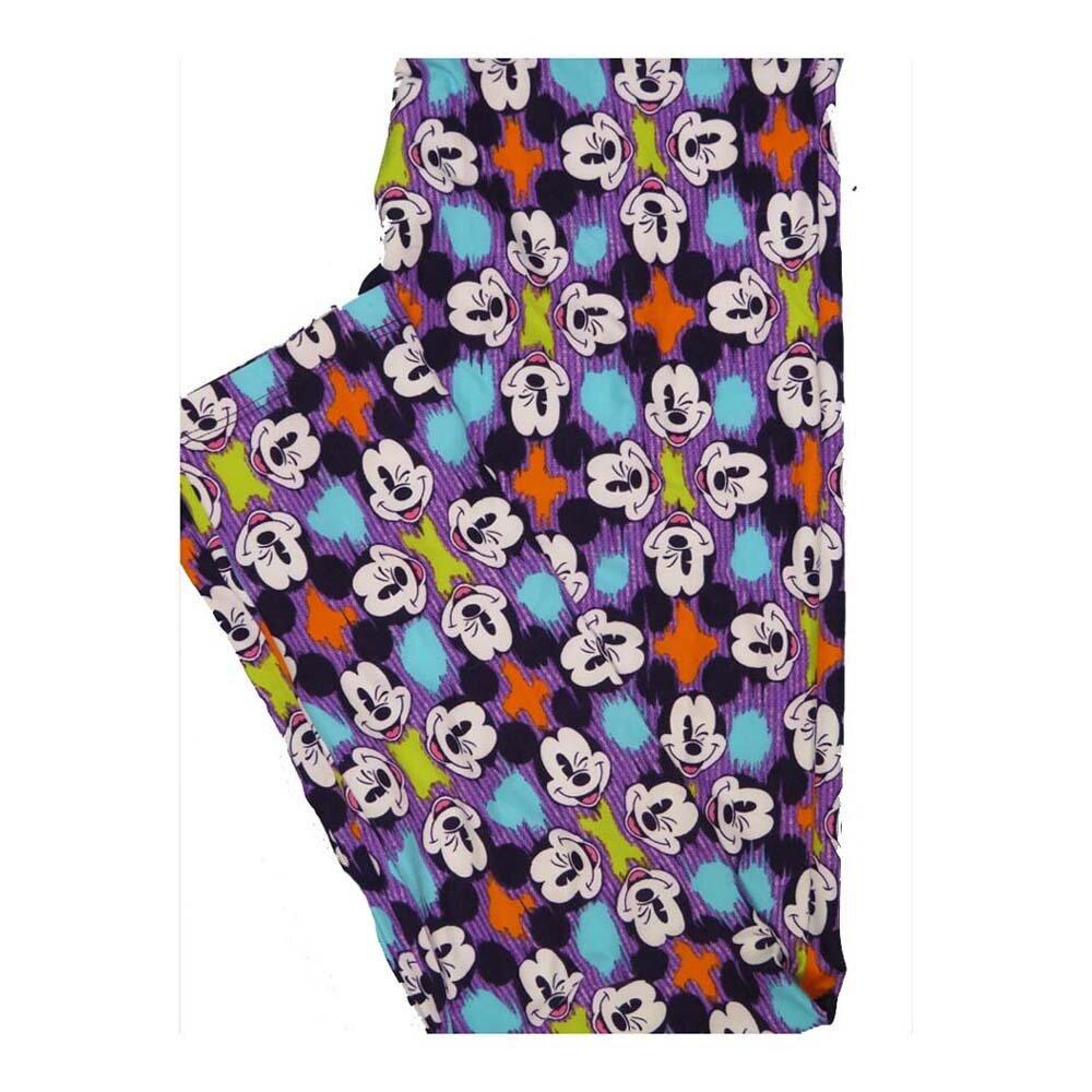 LuLaRoe One Size OS Disney Winking Mickey Mouse Leggings fits Women 2-10