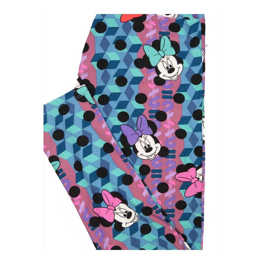 LuLaRoe One Size OS Disney Minnie Mouse Polka Dot Leggings fits Women 2-10