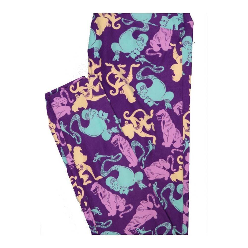 LuLaRoe One Size OS Disney Genie Abu Rajah Aladdin Leggings fits Women 2-10