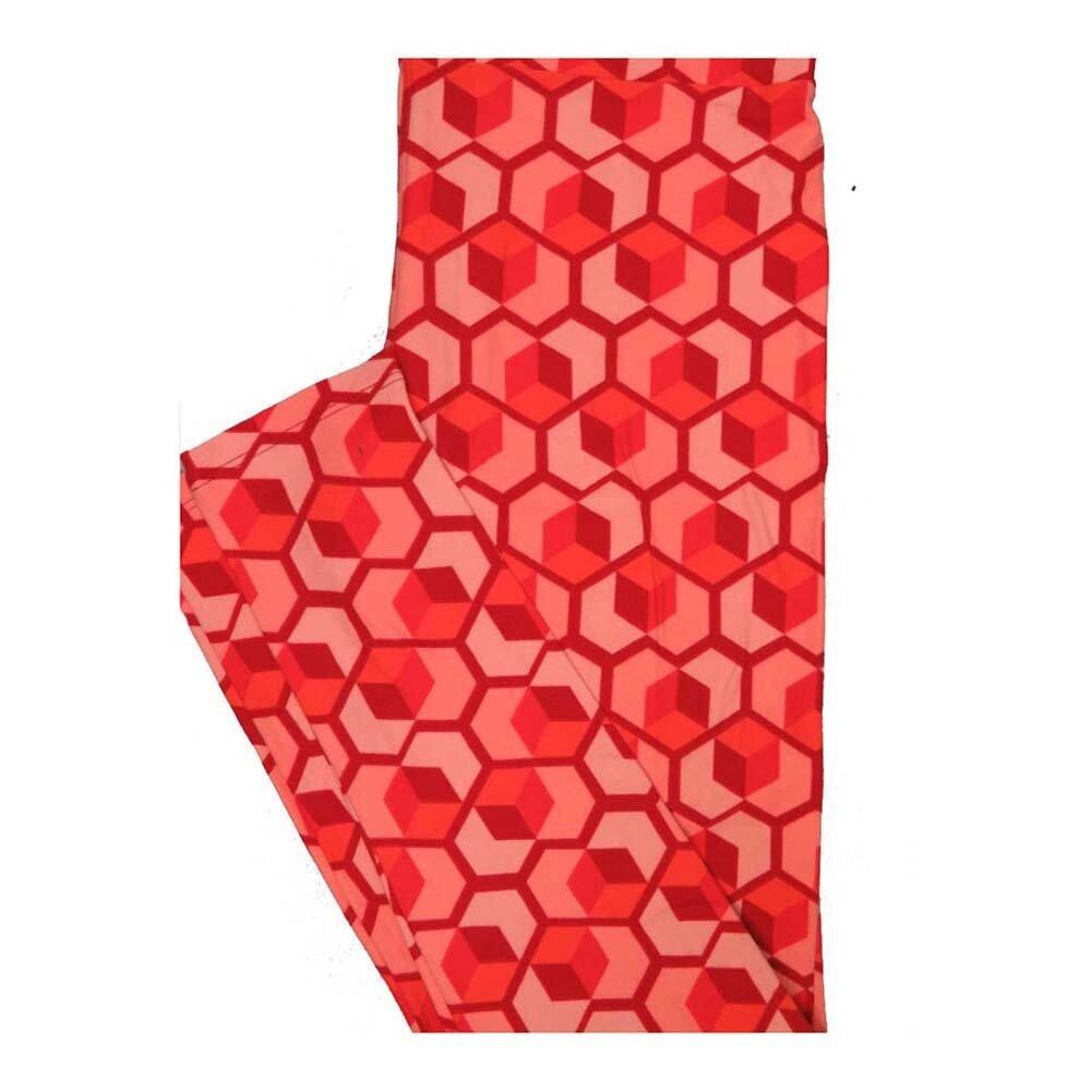 LuLaRoe One Size OS Valentines 3D Cube Hearts Leggings fits Women 2-10