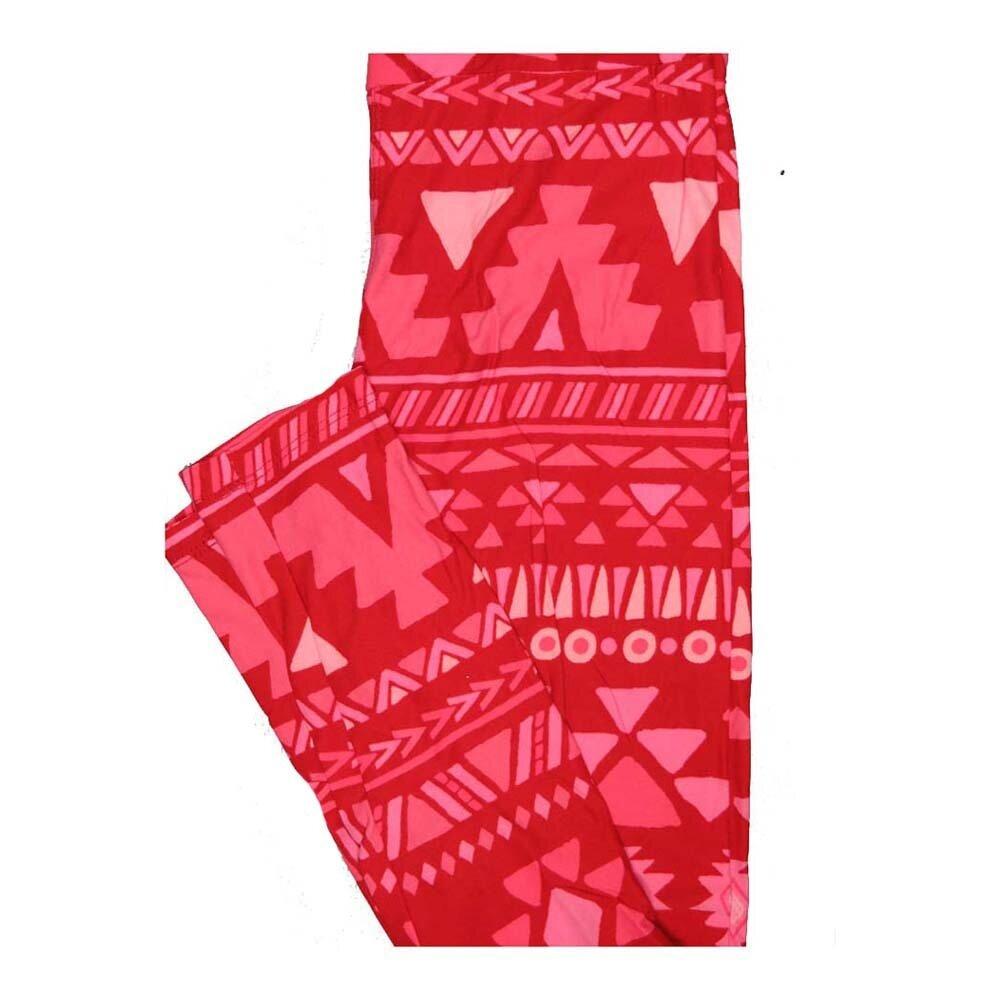 LuLaRoe One Size OS Valentines Aztek Southwestern Hearts Stripe Leggings fits Women 2-10