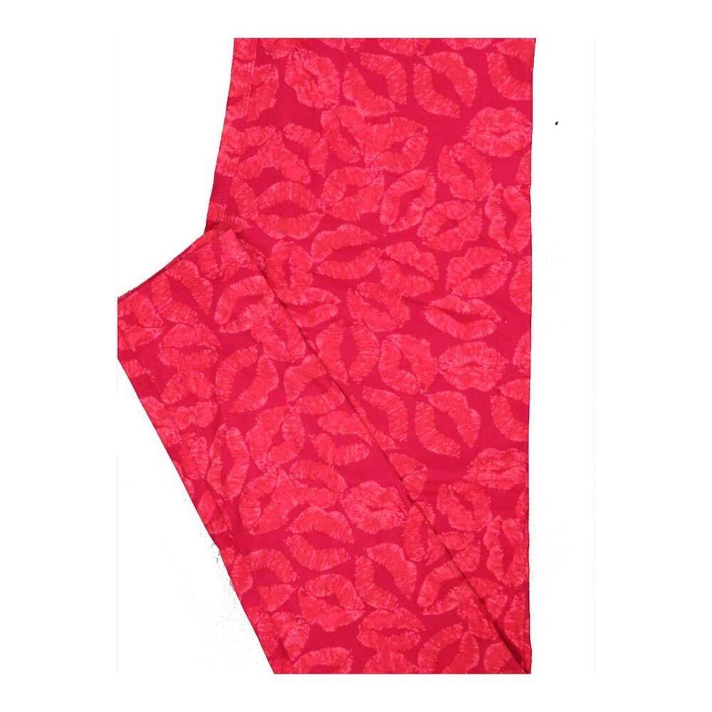 LuLaRoe One Size OS Valentines Kissing Lips Leggings fits Women 2-10