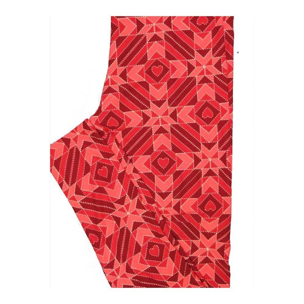 LuLaRoe One Size OS Valentines Geometric Hearts Leggings fits Women 2-10