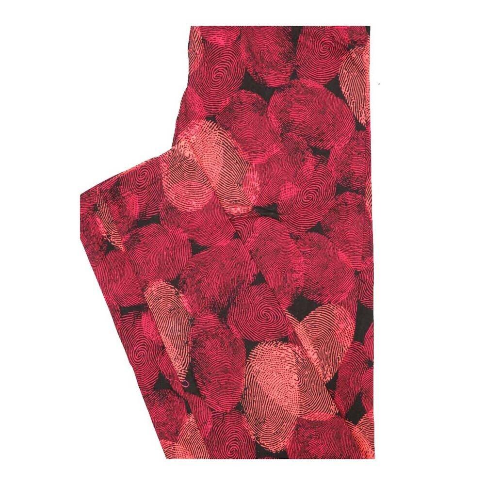 LuLaRoe One Size OS Valentines Thumbprint Hearts Leggings fits Women 2-10