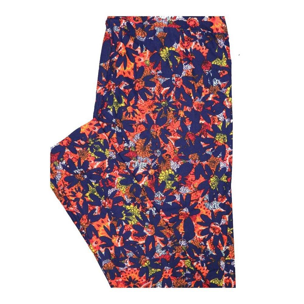 LuLaRoe One Size OS Floral Leggings fits Women 2-10