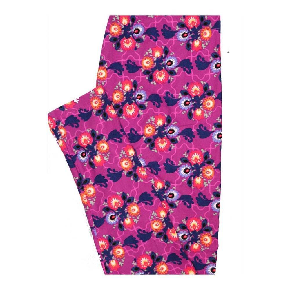 LuLaRoe One Size OS Floral Puzzle Piece Leggings fits Women 2-10
