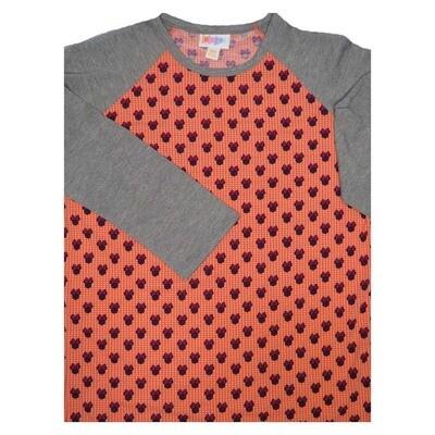 LuLaRoe Randy XX-Small Disney Minnie Mouse Polka Dot Raglan Sleeve Unisex Baseball Womens Tee Shirt - XXS fits 00-0