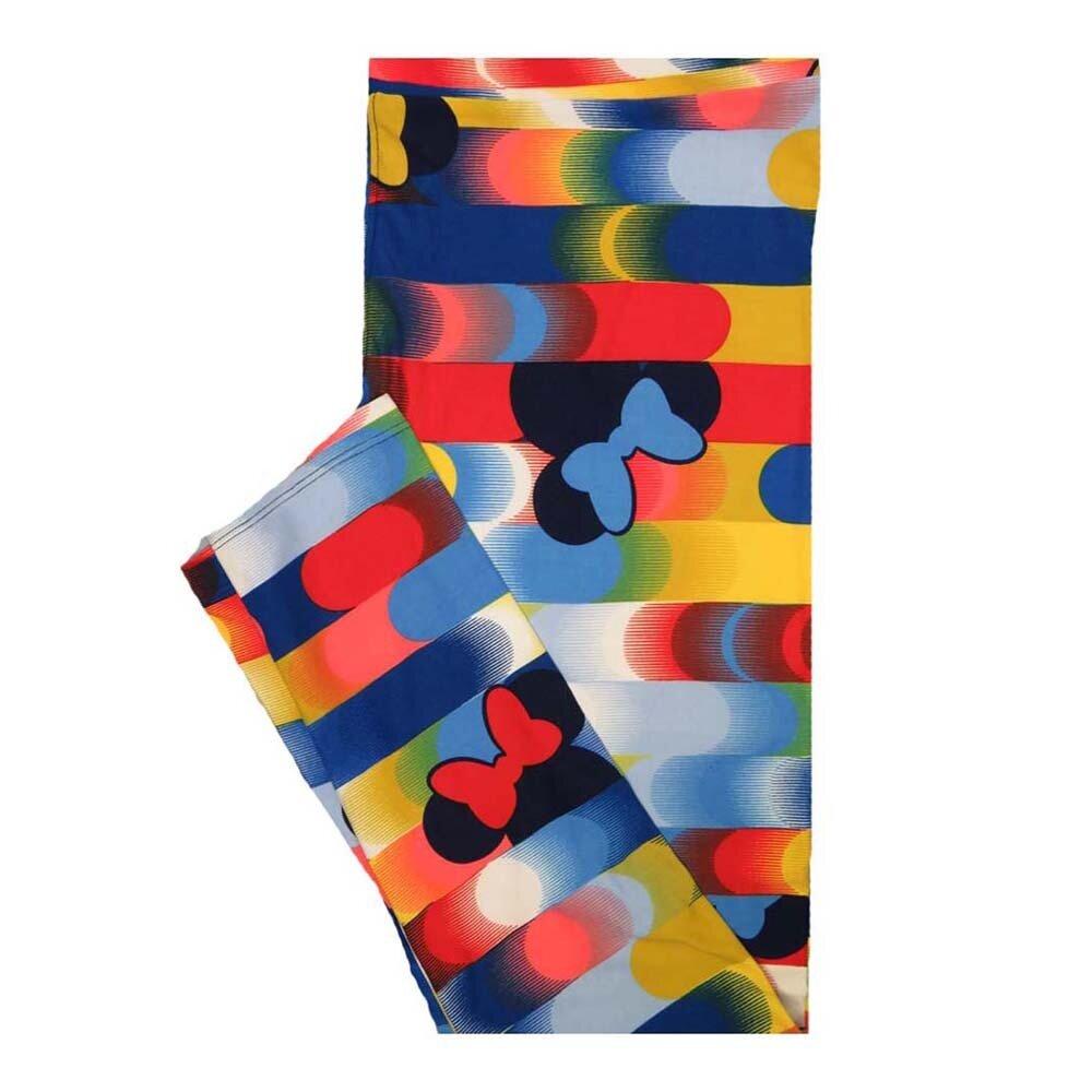 LuLaRoe Tall Curvy TC Disney Minnie Mouse Rainbow Stripe Leggings fits Women 12-18