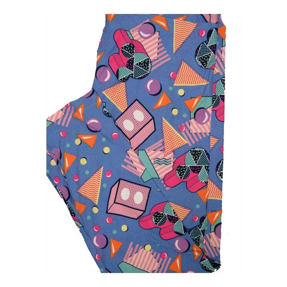 LuLaRoe Tall Curvy TC Disney Mickey Mouse Polka Dot Geometric Leggings fits Women 12-18