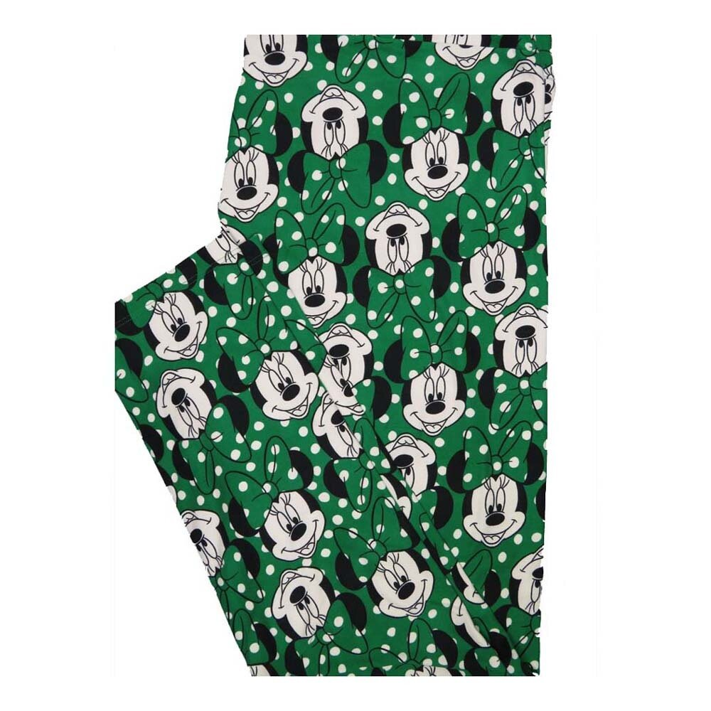 LuLaRoe Tall Curvy TC Disney Minnie Mouse Polka Dot Leggings fits Women 12-18