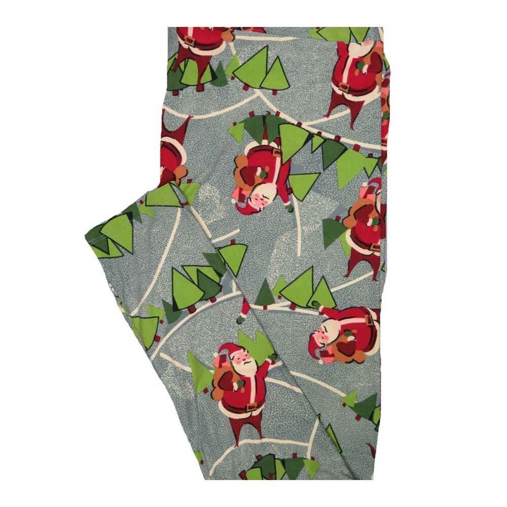 LuLaRoe Tall Curvy TC Christmas Holiday Santa Claus Tree Leggings fits Women 12-18