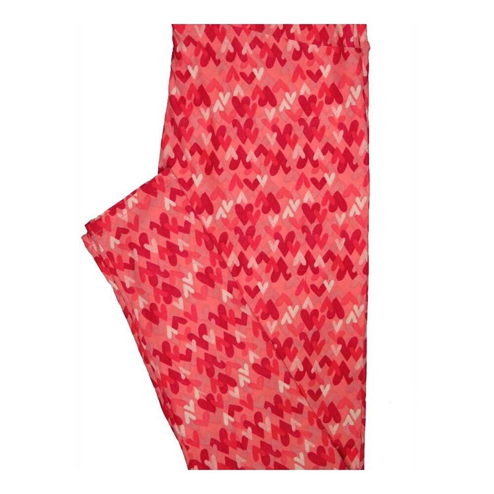 LuLaRoe Tall Curvy TC Valentines Multiple Hearts Leggings fits Women 12-18