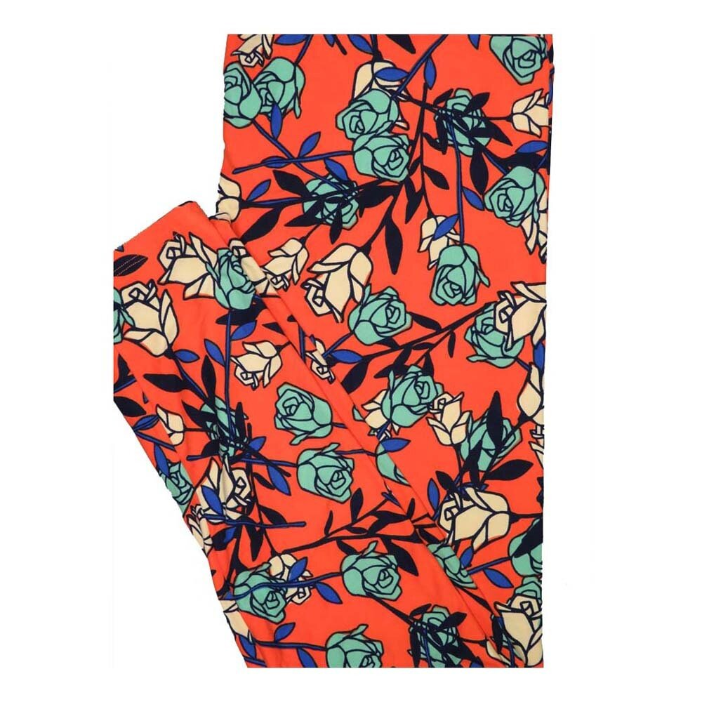 LuLaRoe Tall Curvy TC Roses Floral Leggings fits Women 12-18