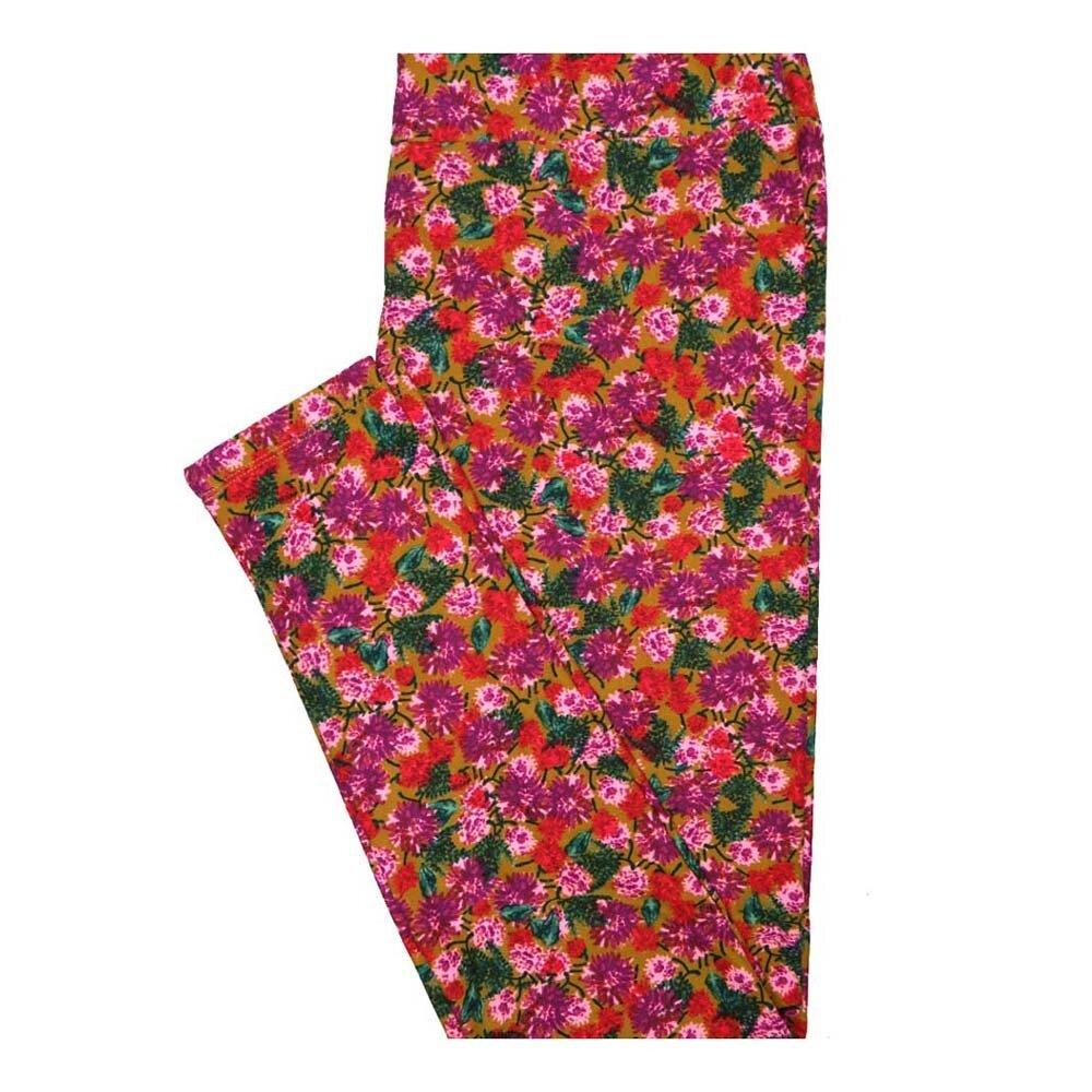 LuLaRoe Tall Curvy TC Floral Leggings fits Women 12-18