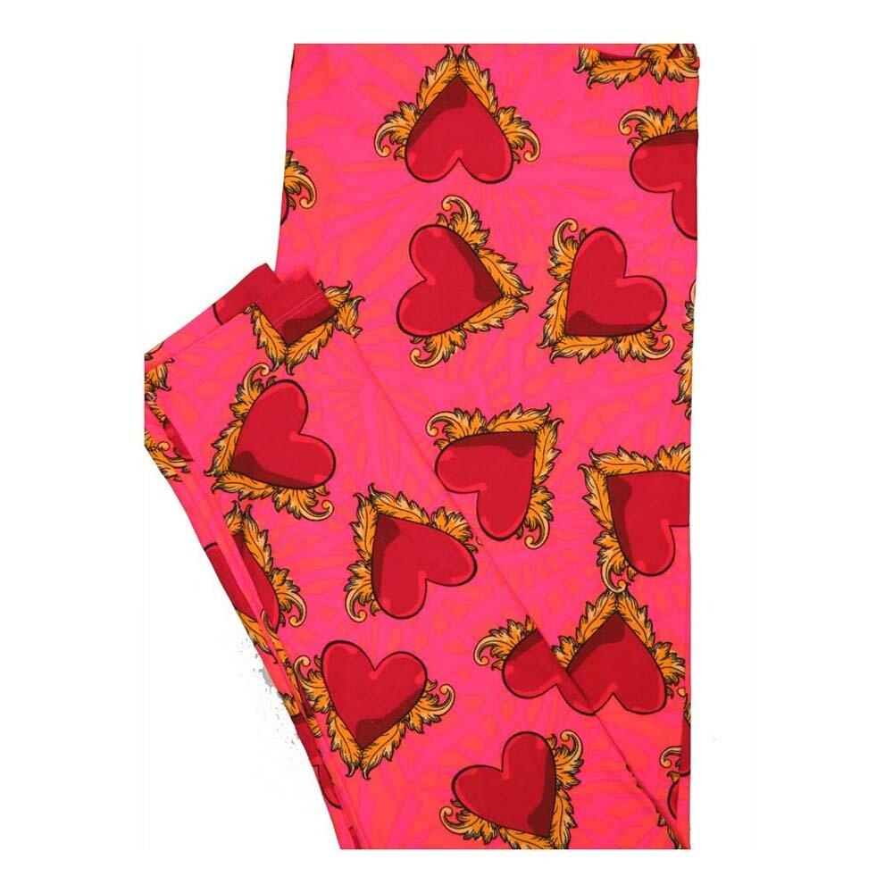 LuLaRoe Tall Curvy TC Valentines Hearts Leggings fits Women 12-18