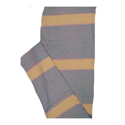 LuLaRoe One Size OS Stripes and Chevrons Leggings fits Women 2-10