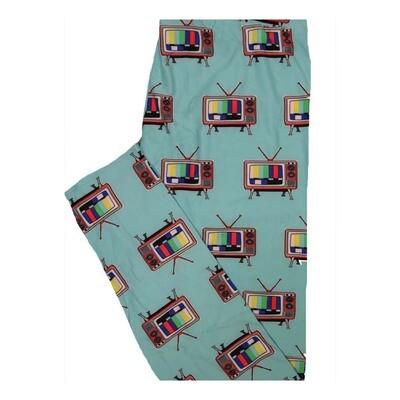 LuLaRoe Tall Curvy TC Old School Color Tvs Leggings fits Women 12-18