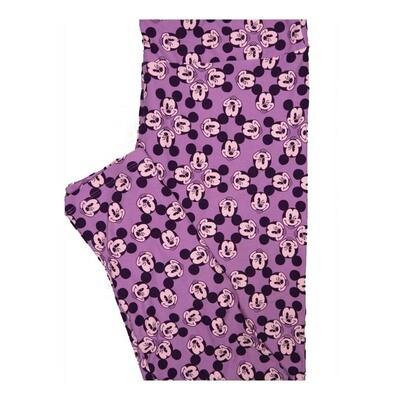 LuLaRoe Tall Curvy TC Disney Mickey Mouse Winking Leggings fits Women 12-18