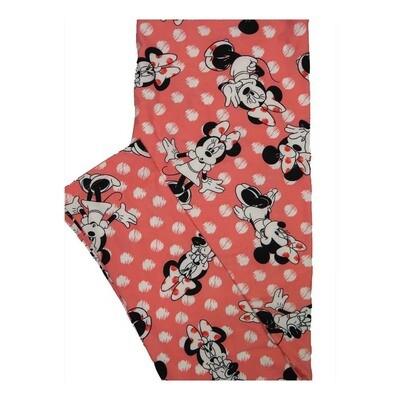 LuLaRoe Tall Curvy TC Disney Minnie Mouse Oops Cute Polka Dot Leggings fits Women 12-18