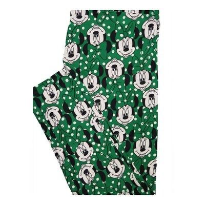LuLaRoe Tall Curvy TC Disney Minnie Mouse Polka Dot Leggings fits Women 12-18