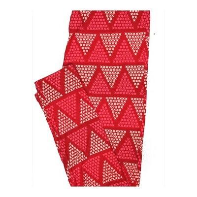LuLaRoe One Size OS Valentines X O X O Triangles Leggings fits Women 2-10