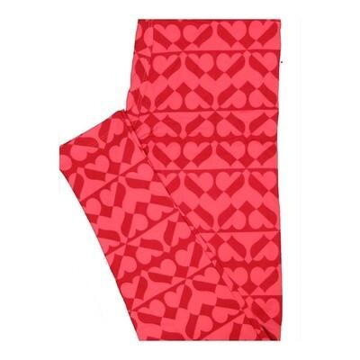 LuLaRoe One Size OS Valentines Hearts Leggings fits Women 2-10