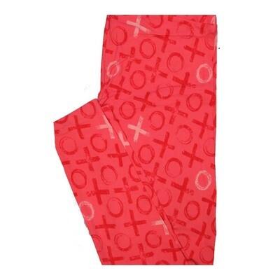 LuLaRoe One Size OS Valentines X O X O Leggings fits Women 2-10