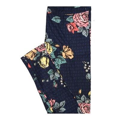 LuLaRoe One Size OS Valentines XO XO Roses Leggings fits Women 2-10