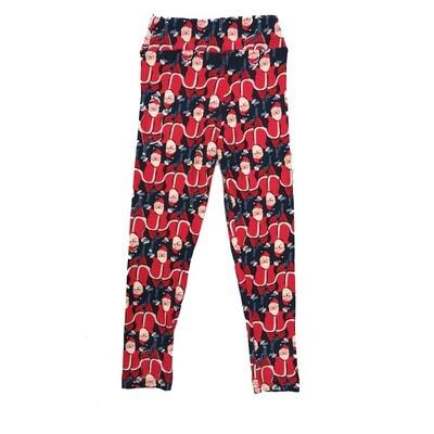 LuLaRoe Kids Small Medium S-M (SM) Christmas Santa Claus Leggings fits Kids sizes 2-6
