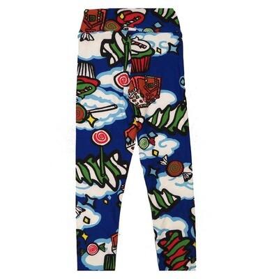 LuLaRoe Kids Small Medium S-M (SM) Christmas Cookies Icing Leggings fits Kids sizes 2-6