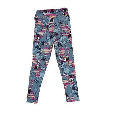 LuLaRoe Kids Small Medium S-M (SM) Disney Captain Hook Rainbow Leggings fits Kids sizes 2-6