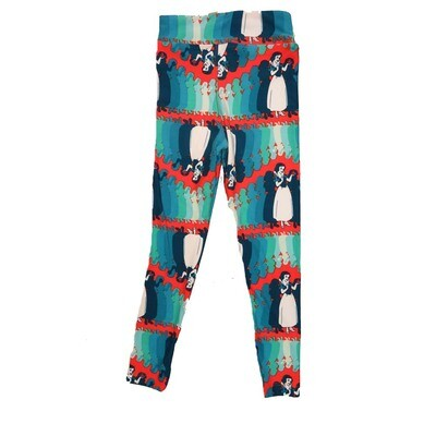 LuLaRoe Kids Small Medium S-M (SM) Disney Snow White Multiple Leggings fits Kids sizes 2-6