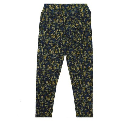 LuLaRoe Kids Small Medium S-M (SM) Floral Leggings fits Kids sizes 2-6