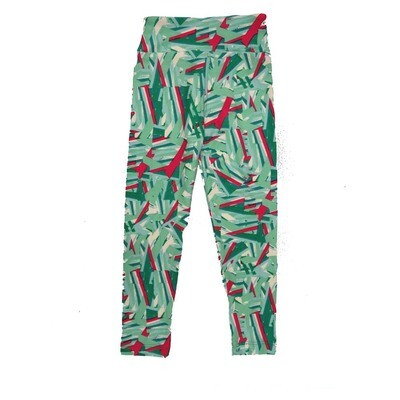 LuLaRoe Kids Small Medium S-M (SM) Geometric Collage Leggings fits Kids sizes 2-6