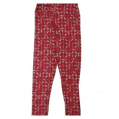 LuLaRoe Kids Small Medium S-M (SM) Geometric Grid Stripe Leggings fits Kids sizes 2-6