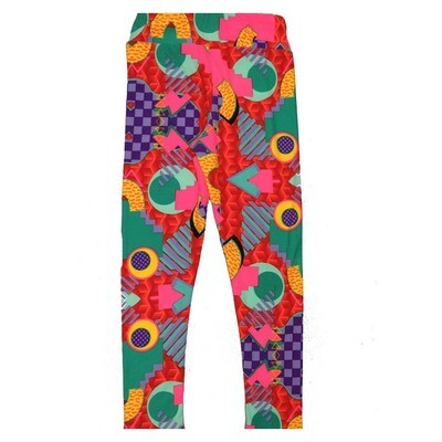 LuLaRoe Kids Small Medium S-M (SM) Geometric Polka Dot Stripe Leggings fits Kids sizes 2-6