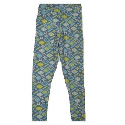 LuLaRoe Kids Small Medium S-M (SM) Geometric Square Mandalas Leggings fits Kids sizes 2-6