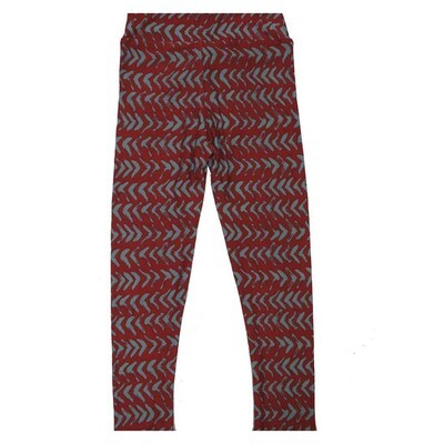 LuLaRoe Kids Small Medium S-M (SM) Geometric Stripe Leggings fits Kids sizes 2-6