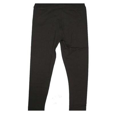 LuLaRoe Kids Small Medium S-M (SM) Solid Black Leggings fits Kids sizes 2-6