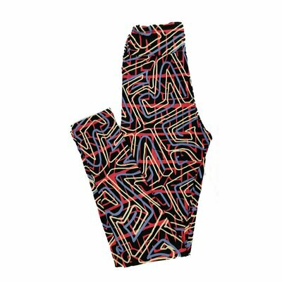 LuLaRoe Tween Floral Geometric Fits Leggings Adult Sizes 00-0