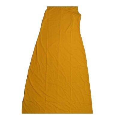 LuLaRoe DANI Medium M Solid Mustard Yellow Sleeveless Column Dress fits Womens sizes 8-10