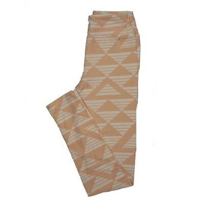 LuLaRoe Tween Stripe Triangles Leggings Fits Adult Sizes 00-0
