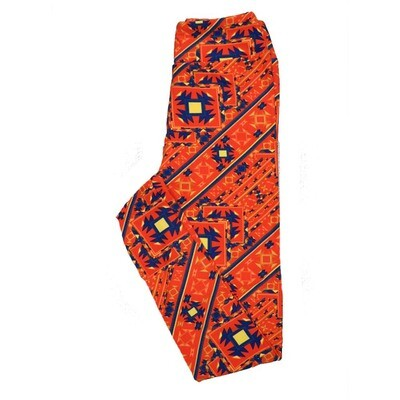 LuLaRoe Tween Aztek Southwestern Geometric Leggings Fits Adult Sizes 00-0