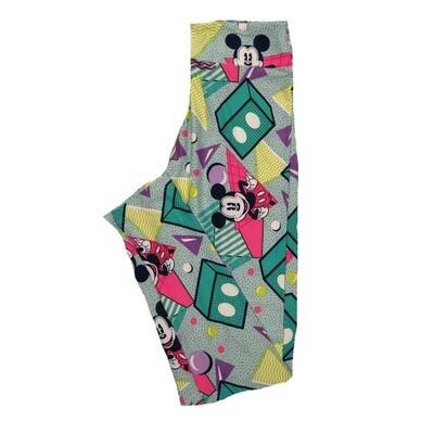 LuLaRoe Tween Disney Mickey Mouse Smiling Polka Dot Geometric Leggings Fits Adult Sizes 00-0